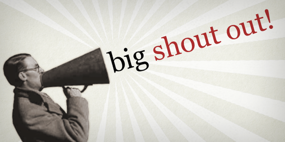 Shout Out!!! - The Best of You as You | May 31st Newsletter