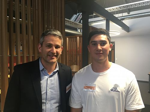 Mark Teviotdale, Partner at AbacusBio (left) with