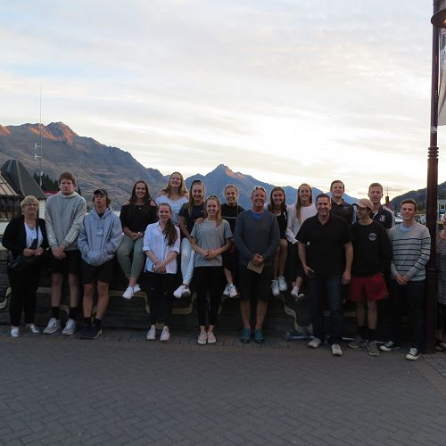 Enjoying the Queenstown waterfront after a long and busy day...