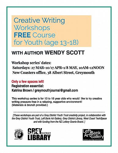 Writing Workshops with Author Wendy Scott