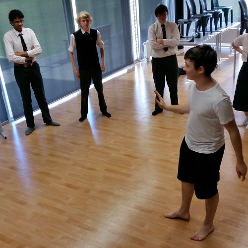The Ugly Shakespeare Company - drama workshop with the Year 13 class