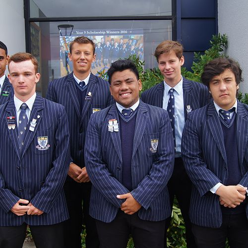 Back from left; Gio Leituala, Jaques Weber, Marc Gregor. Front from left; Kyle Hastie, James Ah-Yek, Taumana Pene