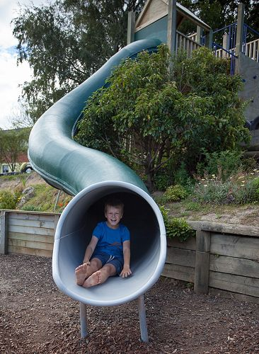 This Playgear Fibreglass Tunnel Slide was manufact