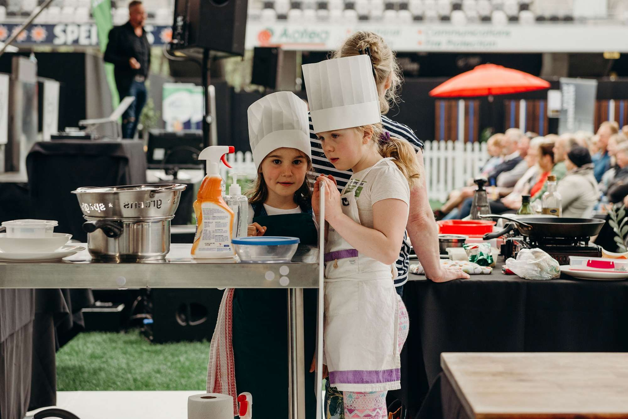 Competitors get ready for Kiwi Kids Can Cook