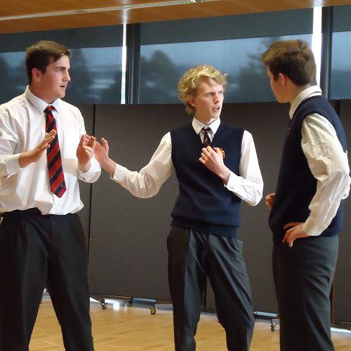 Harrison, Liam, and Joe, mid-game