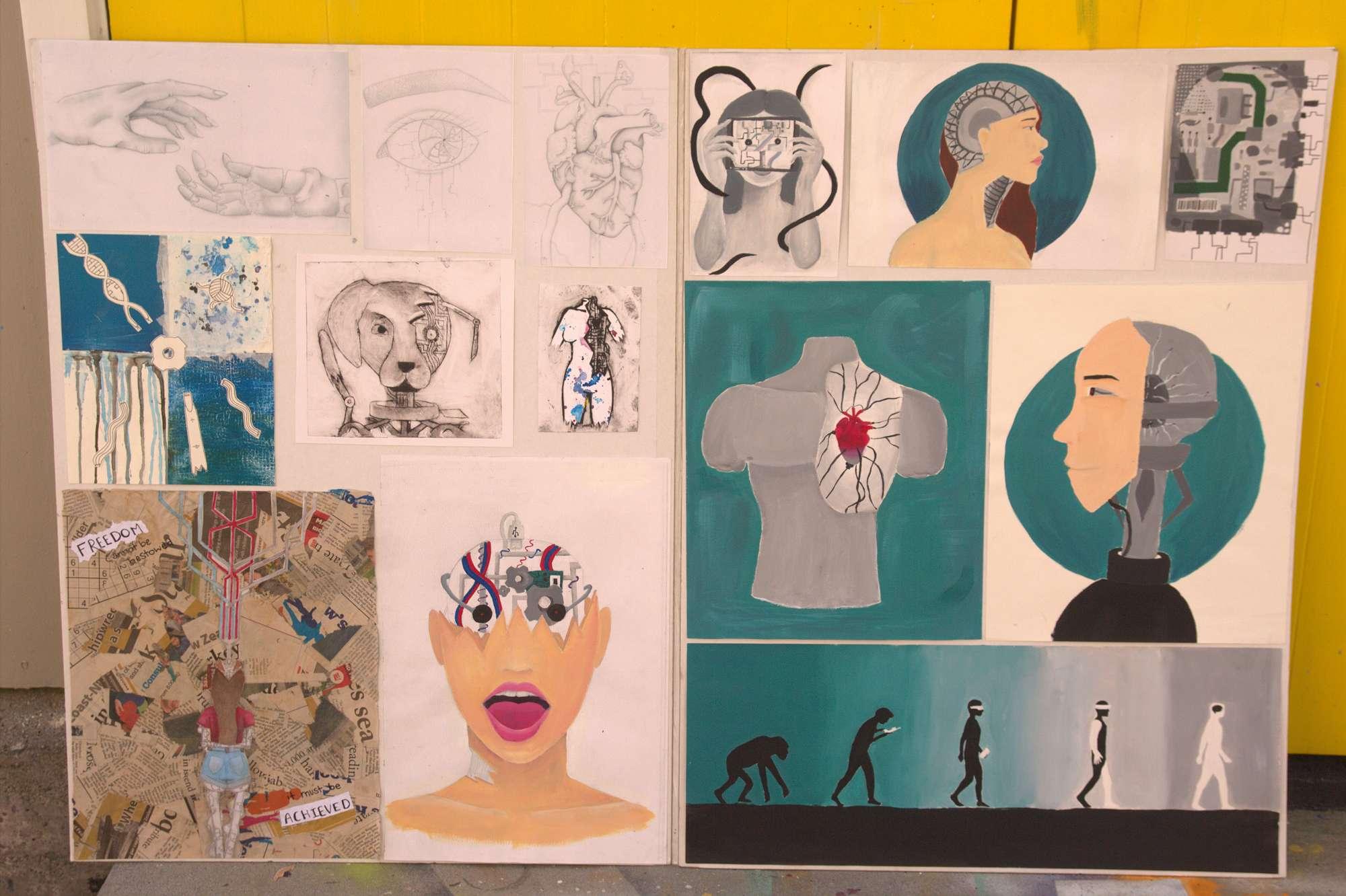 Ruahine Farrant - NCEA Level 1 Art portfolio
