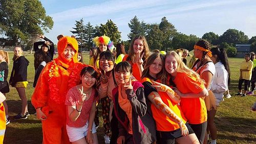 On sports day you can dress up in you You (House) colour and support the girls who are competing.