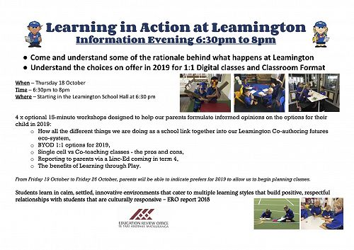 Learning in Action open evening