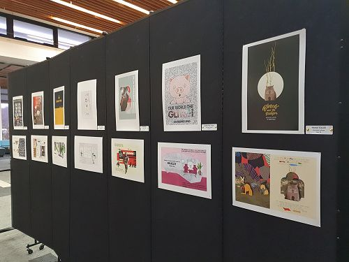 Columba College Design work displayed beautifully at the Hub.