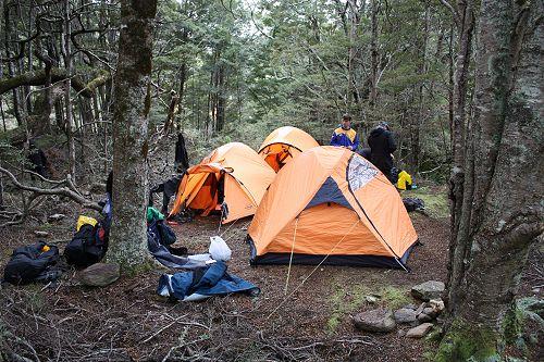 Group 2 campsite near Jubilee Hut