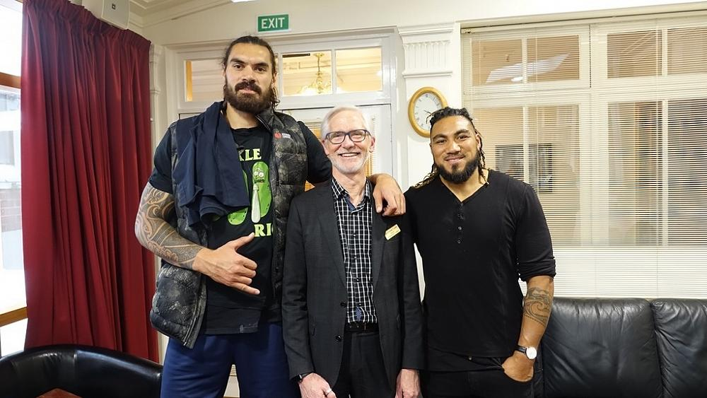 Steven Adams, Charles Tustin and Ma'a Nonu, 21/8/1