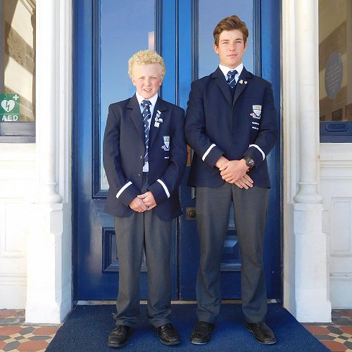 Rowers Tate Drummond and Olly Higgins