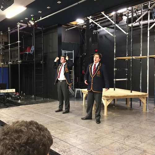 Harrison Lawrence and Alfred Richardson, JMC Theatresports team, STAC 2016
