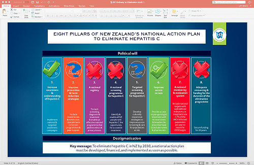 Eight Pillas on New Zealand's National Action Plan