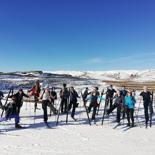 X-Country Skiing and Snowcaving