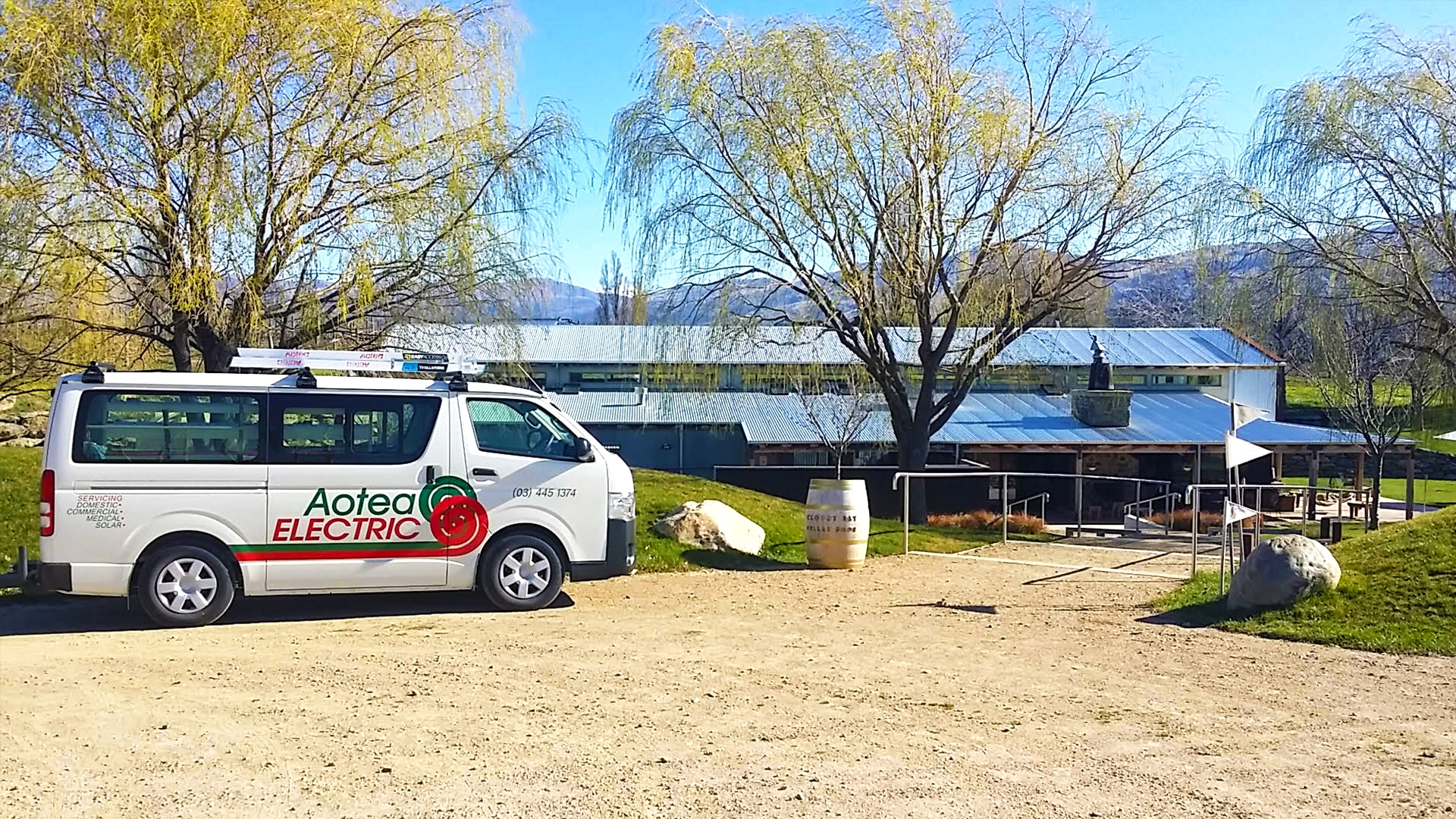 Aotea Electric Cromwell continues to provide expert service for Cloudy Bay Vineyards