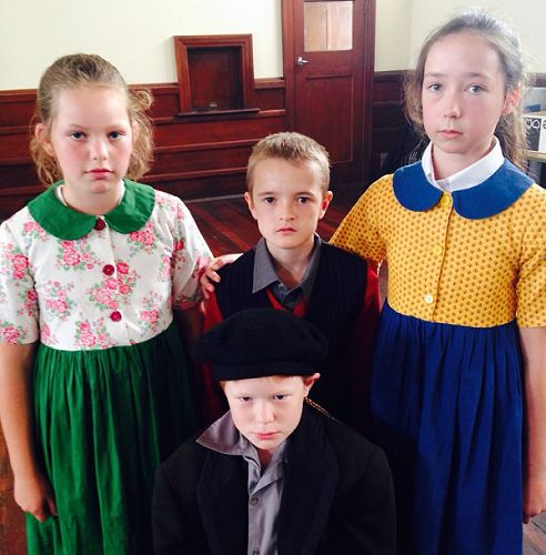 Dressing up as early settlers at the Toit Museum
