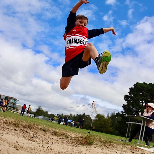 Athletic Action in the Long Jump Pit