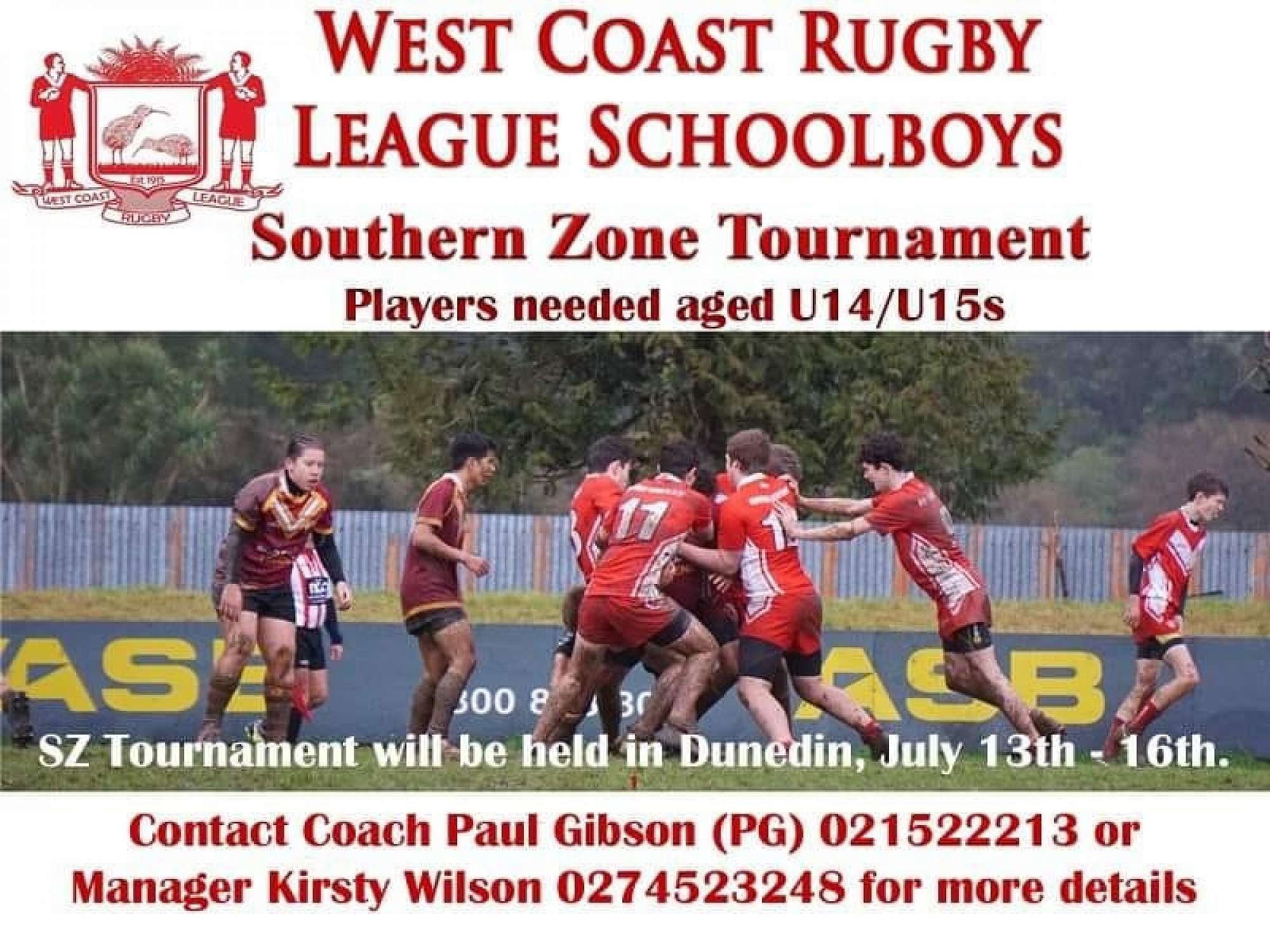 This tournament will host all South Island regional teams, NZRL staff, NRL scouts, South Island coaches etc! The West Coast under 15s has had a number of injuries, so they have a few positions available..... ARE YOU INTERESTED?
