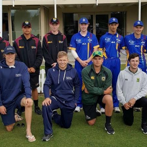 Ryan Whelan plays for the New Zealand Under-18 Cricket Team