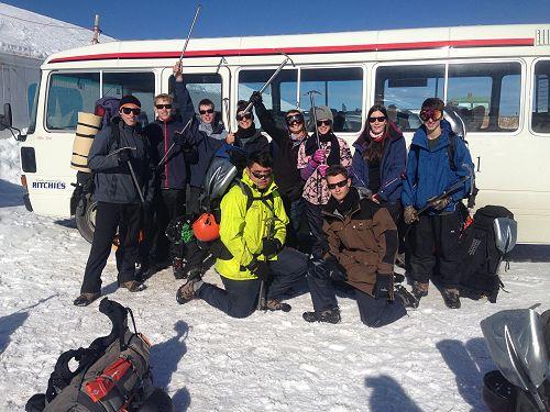 Snow Caving team