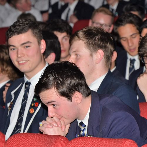 The moment the 2018 Dux Award was announced