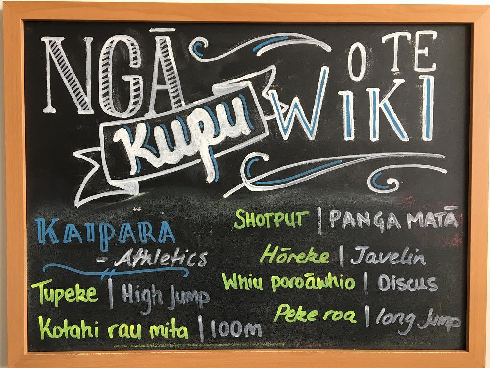 Nga kupu o te wiki [words of the week]: building Te Reo into