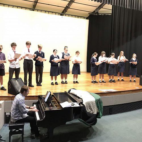 Choir in rehearsals