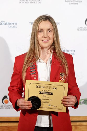 Kate pictured at the Aoraki Sports Awards