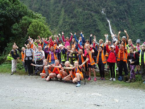 Year 8 group photo on the first walk