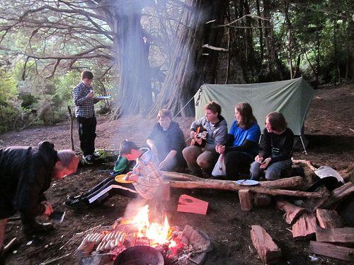 Tautuku camp fire