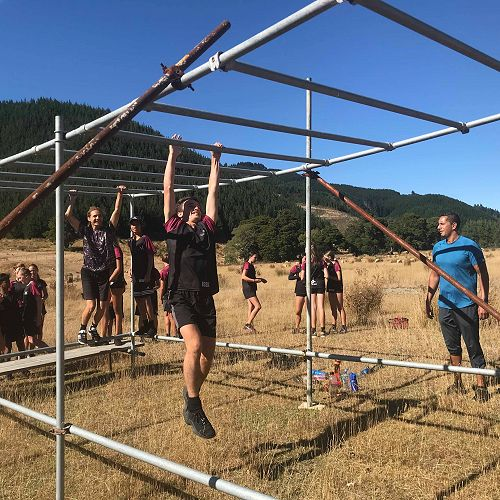 The Year 10 Institute of Sport (IOS) class participated in a Wairua Warrior Obstacle Tutorial