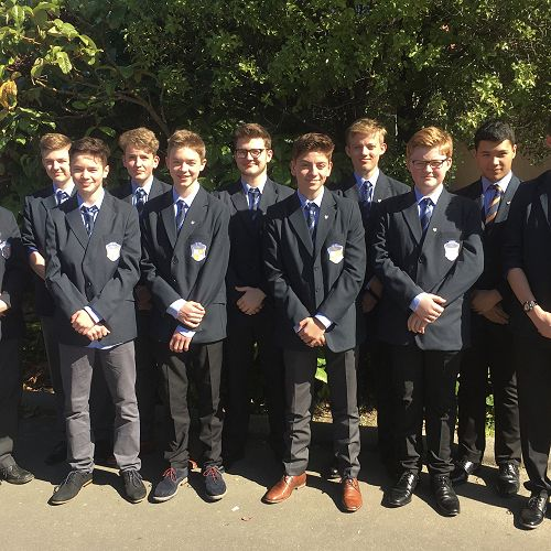 Boys from Leibniz school in the quad this week