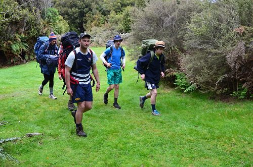 Year 13 group leaving the campsite on day 3
