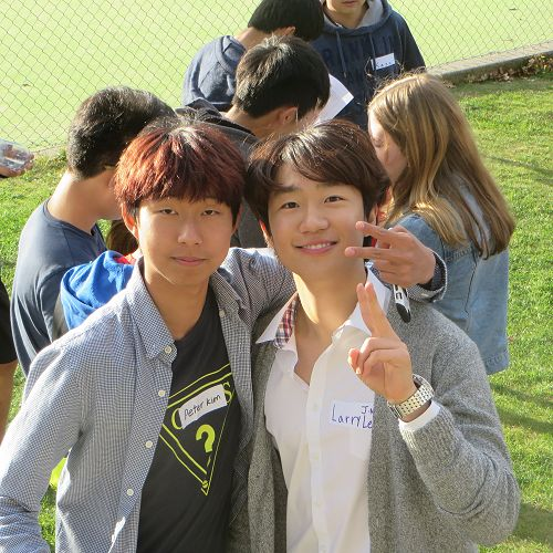 Larry Lee and Peter Kim - both from Korea