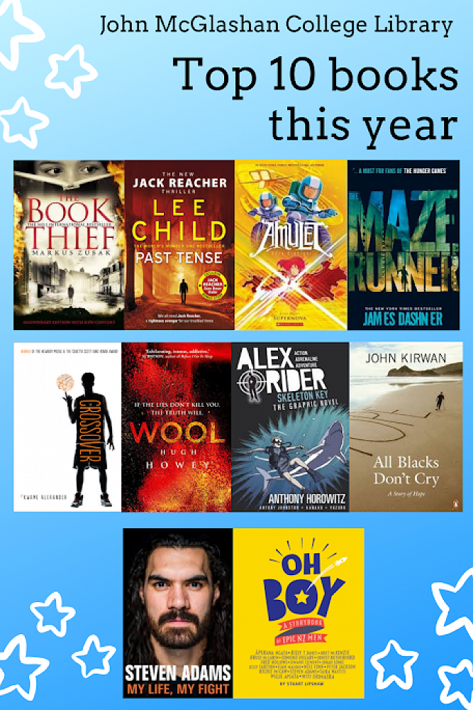 These 10 books have been the most popular at McGlashan so far this year.