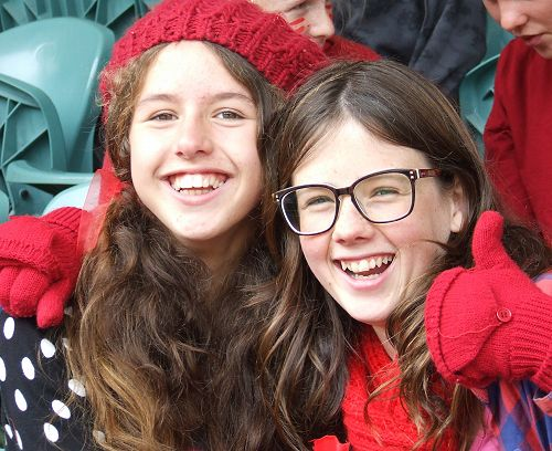 Athletics Day supporters