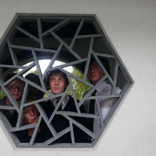 Year 9 Drama students exploring the Dunedin Chinese Garden
