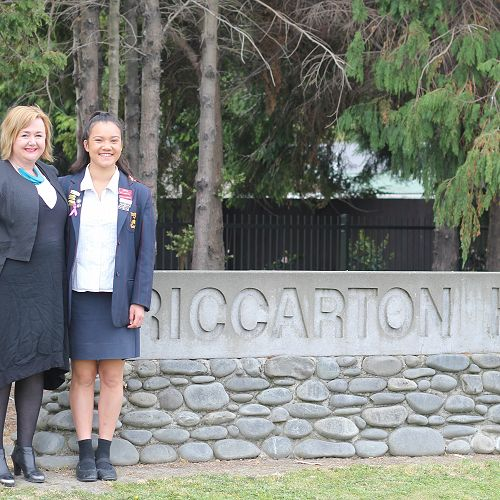 Megan Woods, MP for Wigram, with Cheyenne Te Haara-Barr, who has been selected as the Youth MP for Wigram.
