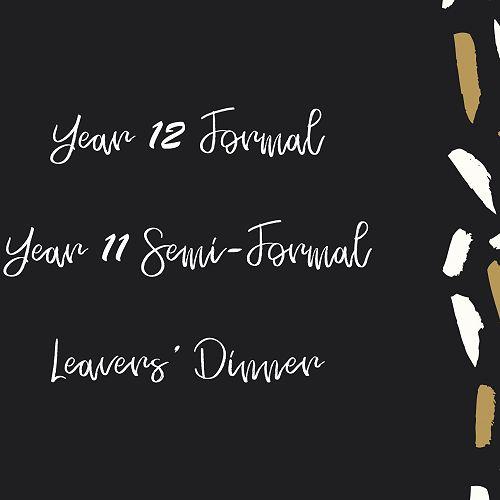 2019 Formal Dates