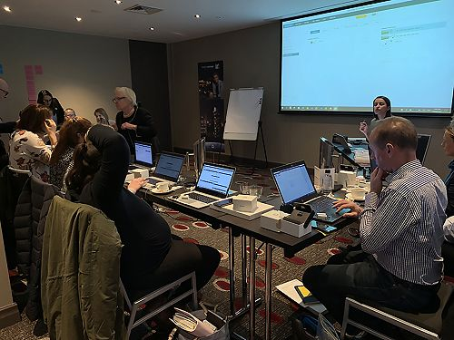 Simon at the Widex seminar, Melbourne, Australia