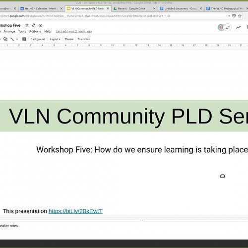 Video: VLN Community PLD Series: Workshop Five - How do we ensure learning takes place?