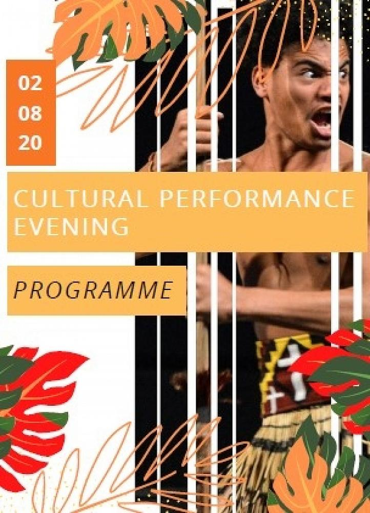 Cultural Performance Evening Programme, 2/8/20