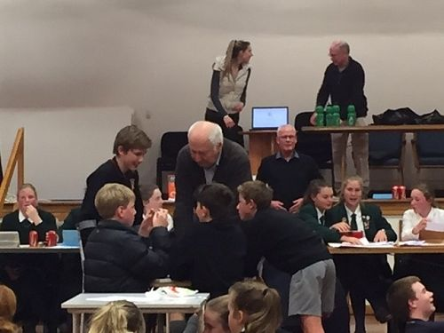 Students participate in the Aoraki Maths Competito