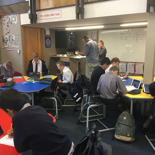 Year 8 mathematicians hard at work in the Link