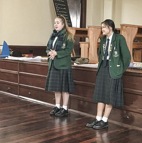 Georgia and Sennah speaking at the Enviroschools Hui 2018