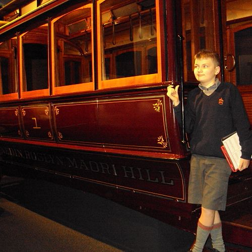 Toby Wafer on the Maori Hill Tram at Toitu