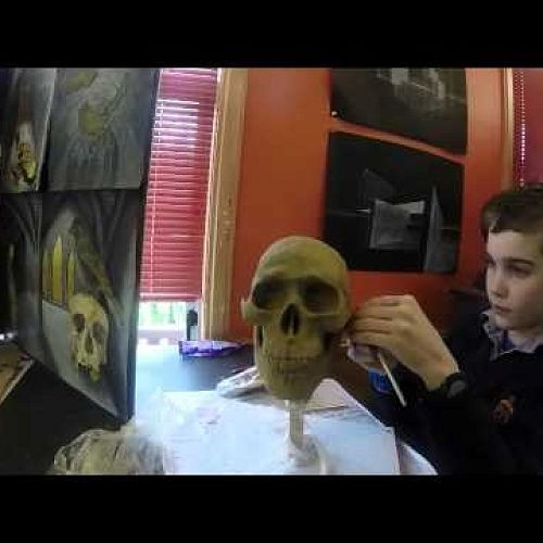 Year 10 Art - Skull Sculpting