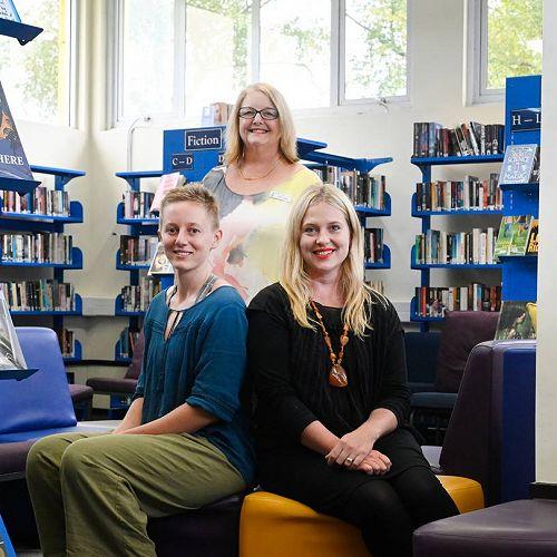 Tauranga Girls' College staff Daya Louis (left), Anne Cooke and Jane Finnimore.
