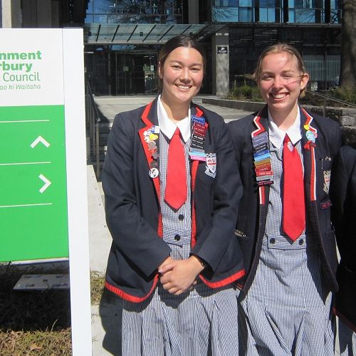 Year 13 Geography students present rail research to Environment Canterbury